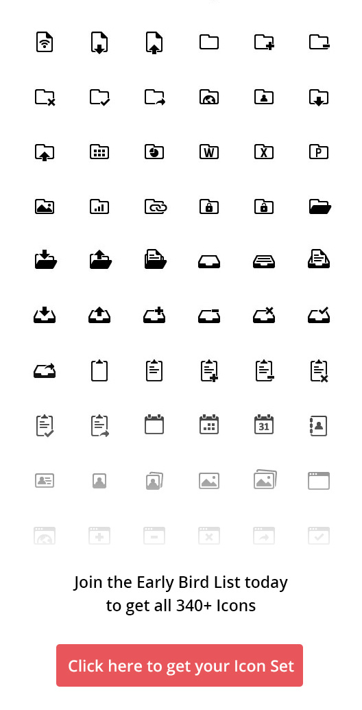 Creatticon Solid Icon Set